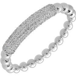 Nine West Pave Rhinestone Bar & Beaded Bracelet