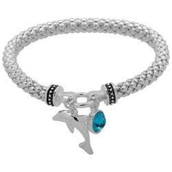 Nine West Dolphin Charm Stretch Bracelet
