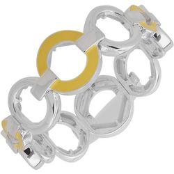 Nine West Yellow Ring Link Stretch Bracelet