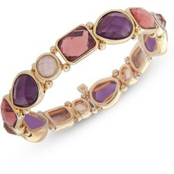 Nine West Berry Purple Multi Garden Games Stretch Bracelet