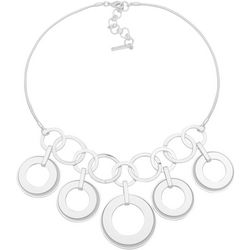 Nine West Multi Open Ring Frontal Necklace
