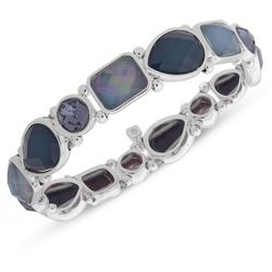 Nine West Blue Multi Garden Games Stretch Bracelet