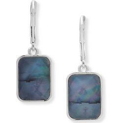 Nine West Blue Multi-Facet Rectangle Earrings