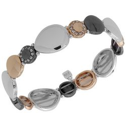 Nine West Tri Tone Discs Stretch Bracelet