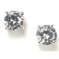 Nine West 7mm CZ Stud Earrings