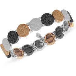 Nine West Tri Tone Textured Stretch Bracelet