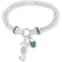 Nine West Seahorse Stretch Mesh Chain Bracelet