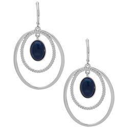 Nine West Silver Tone Orbital Rings Earrings