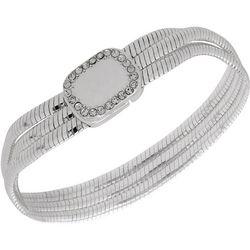 Nine West Boxed Silver Tone Chain Bracelet