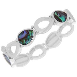 Nine West Abalone Teardrop Link Bracelet