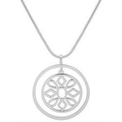 Nine West Disc Cutout Pendant Necklace