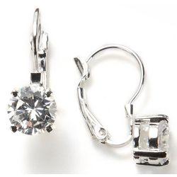 Nine West Simulated Crystal Leverback Earrings