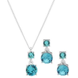 Nine West Crystal Elements Necklace & Earring Set