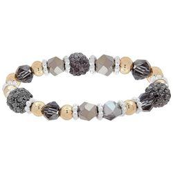 Nine West Tri Tone Glass Beaded Stretch Bracelet