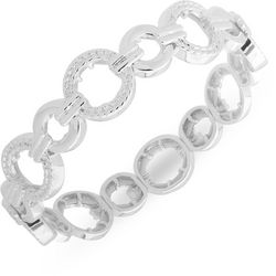 Nine West Silver Tone Open Link Stretch Bracelet