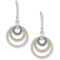 Nine West Tri Tone Multi Ring Earrings