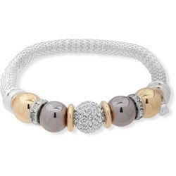 Nine West Tri Tone Bead & Chain Bracelet