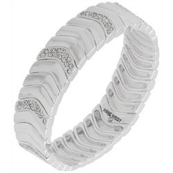 Nine West Silver Tone Scallop Stretch Bracelet