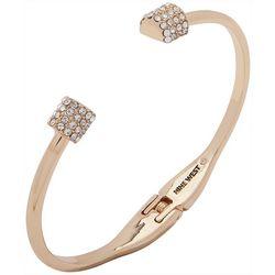 Nine West Pave Rhinestones Hinge Cuff Bracelet