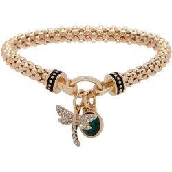 Nine West Dragongfly Charm Stretch Bracelet