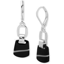 Nine West Black Double Drop Earrings