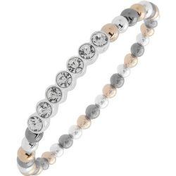 Nine West Tri Tone Beads & Rhinestones Stretch Bracelet