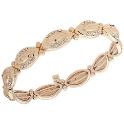 Nine West Gold Tone Navette Link Stretch Bracelet