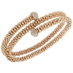 Nine West Gold Tone & Rhinestone Coil Bracelet