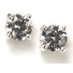 Nine West Round CZ Stud Earrings