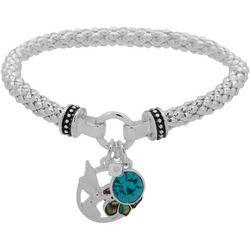 Nine West Hummingbird Charm Stretch Bracelet