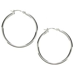 Nine West Silver Tone Hoop Earrings