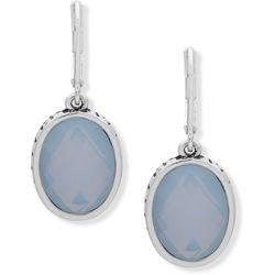 Chaps Light Blue Stone Drop Earrings