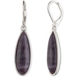Chaps Purple Teardrop Earrings