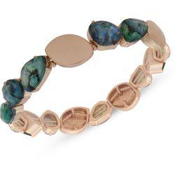 Chaps Gold Tone Abalone Stone Stretch Bracelet