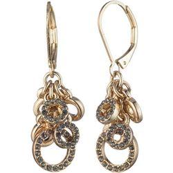 Chaps Multi Ring & Rhinestone Cluster Earrings