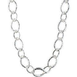 Chaps Hammered Twisted Link Collar Necklace