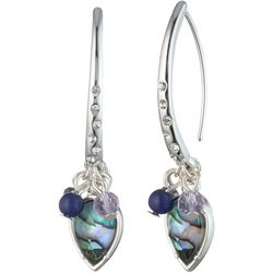 Chaps Blue Abalone Shell Threader Earrings