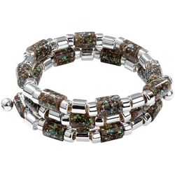 Chaps Abalone Shell Coil Bracelet