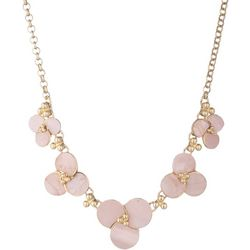 Chaps Shell Flower Shapes Gold Tone Necklace