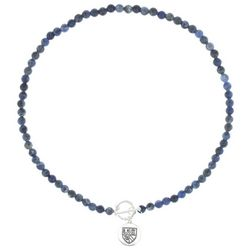 Chaps Sodalite Blue Beaded Toggle Necklace
