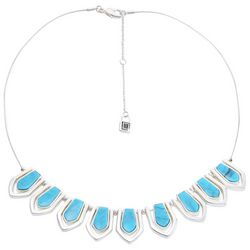 Chaps Turquoise Blue Frontal Necklace
