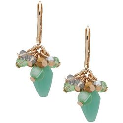 Chaps Seafoam Green Multi Bead Drop Earrings