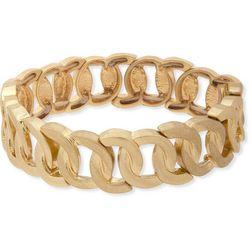 Chaps Worn Gold Tone Link Stretch Bracelet