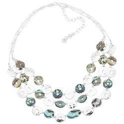 Chaps Abalone Shell Disc Bib Necklace