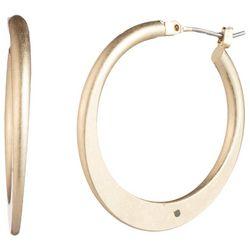 Chaps Gold Tone 30mm Hoop Earrings