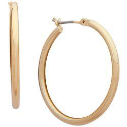 Chaps Gold Tone 48mm Click It Hoop Earrings