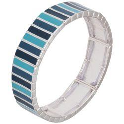 Chaps Blue & Silver Tone Stretch Bracelet