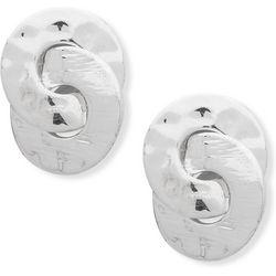 Chaps Textured Interlocking Stud Earrings