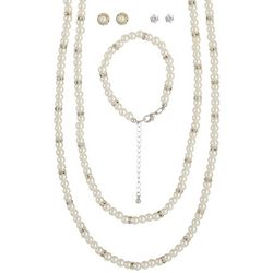 Bay Studio 5-pc. Faux Pearl Necklace Bracelet & Earring Set