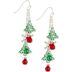 Brighten the Season Tree & Snowflake Dangle Earrings